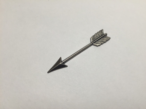 Miniature Arrow Shawl Pin ~ Antique Silver