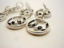 Handmade Silver Metal Stitch Markers ~ Scotty Dogs ~ Set of 6