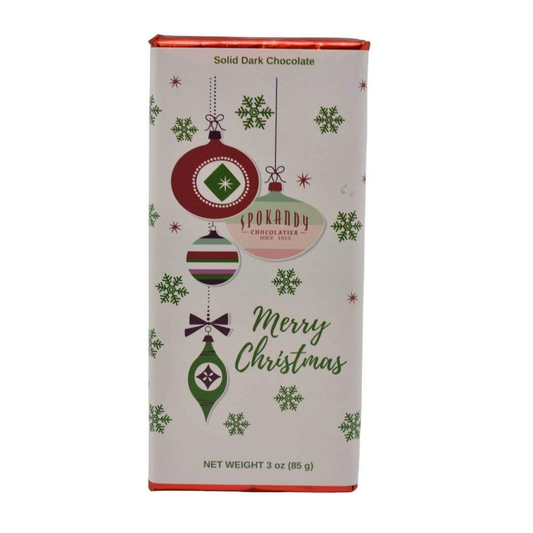 3oz Solid Dark Chocolate Holiday Bar