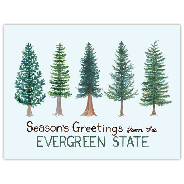 Evergreen State Holiday Card