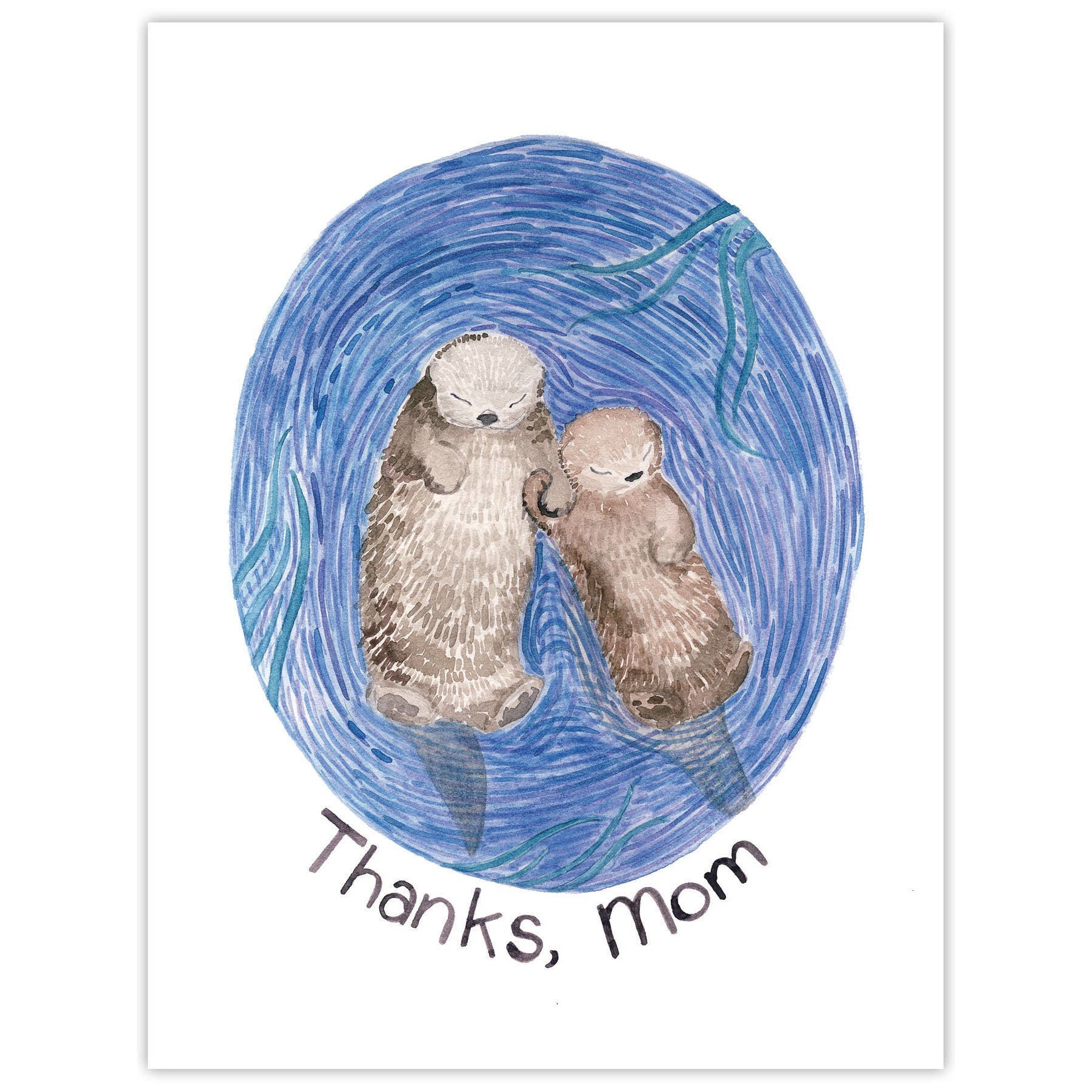 Thanks Mom Otters Card