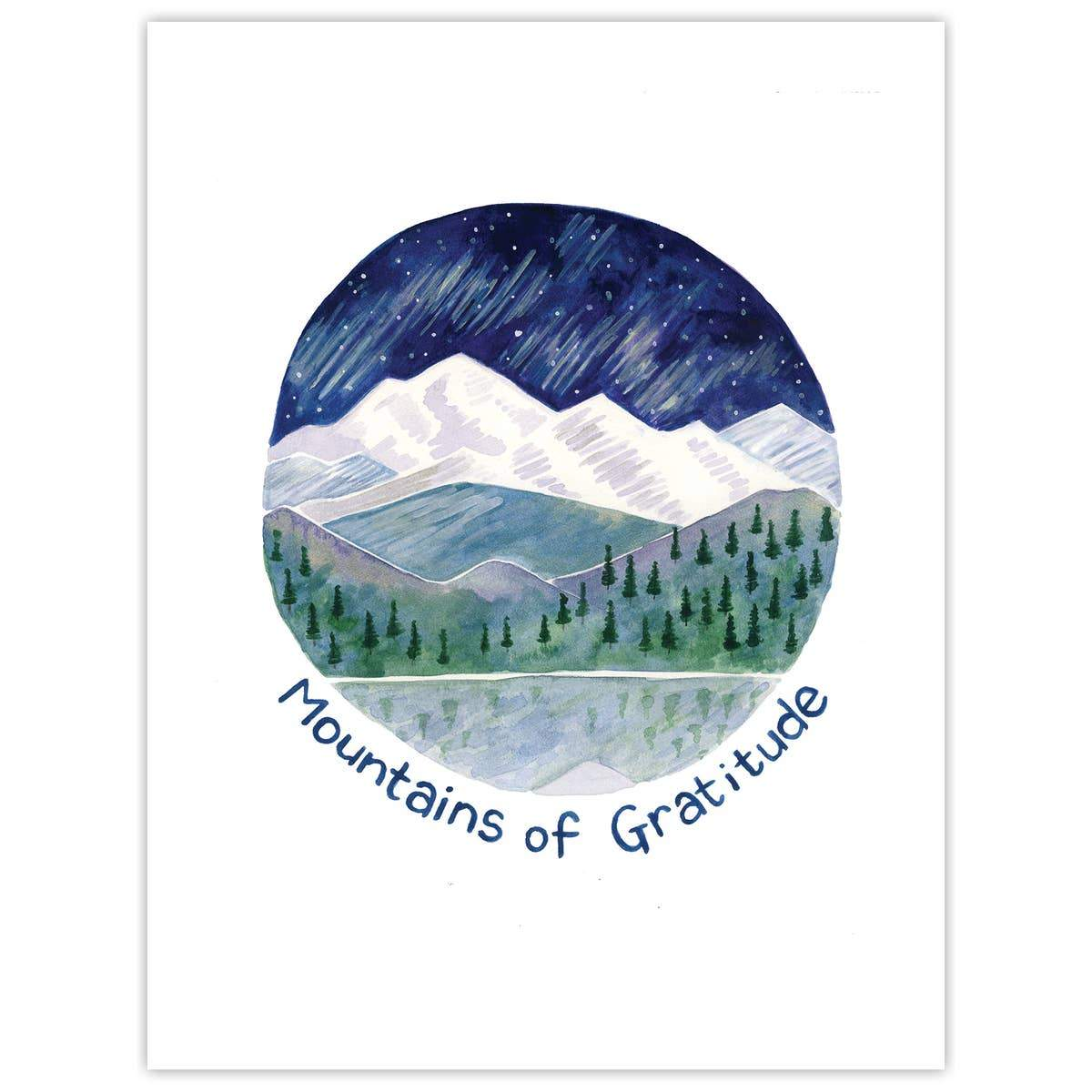Mountains of Gratitude Card