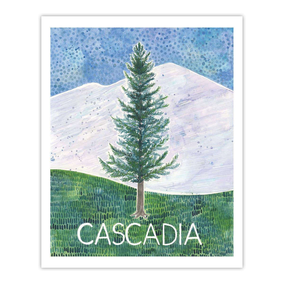 "Cascadia Watercolor Art Print - 8"" x 10"""