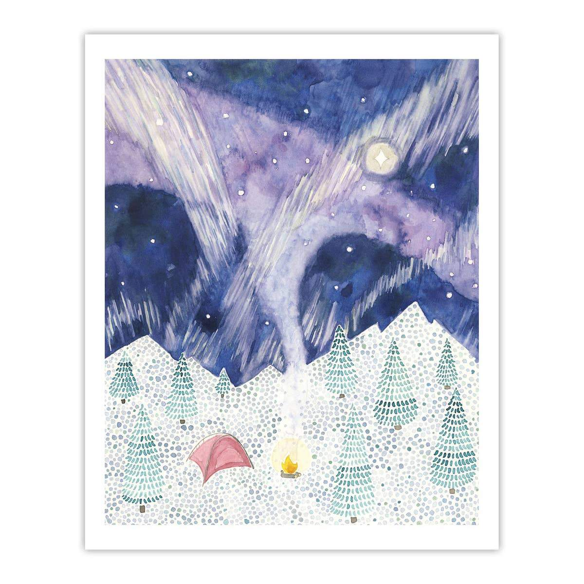 "Camping Watercolor Art Print - 8"" x 10"""