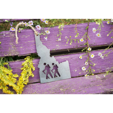 Idaho State Hikers Ornament | Recycled Steel
