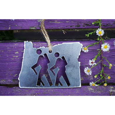 Oregon State Hikers Ornament | Recycled Steel