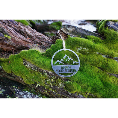 Adjust Your Altitude Ornament | Recycled Steel