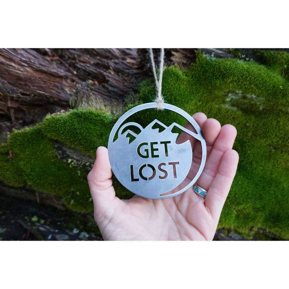 Get Lost Mountains Ornament | Recycled Steel