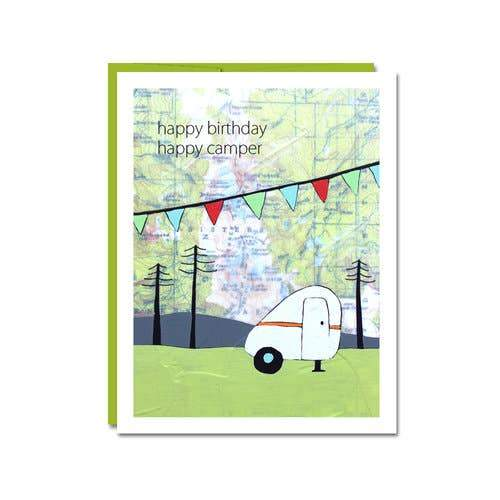Happy Camper Happy Birthday Card - Rachel Austin