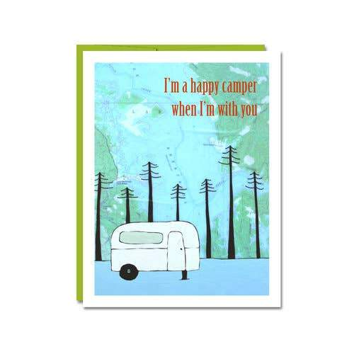 Happy Camper Card - Rachel Austin