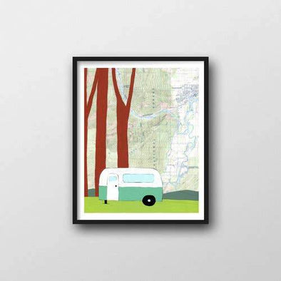 "National Forest Art Print - 11"" x 14"""