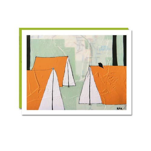 Orange Tents Card