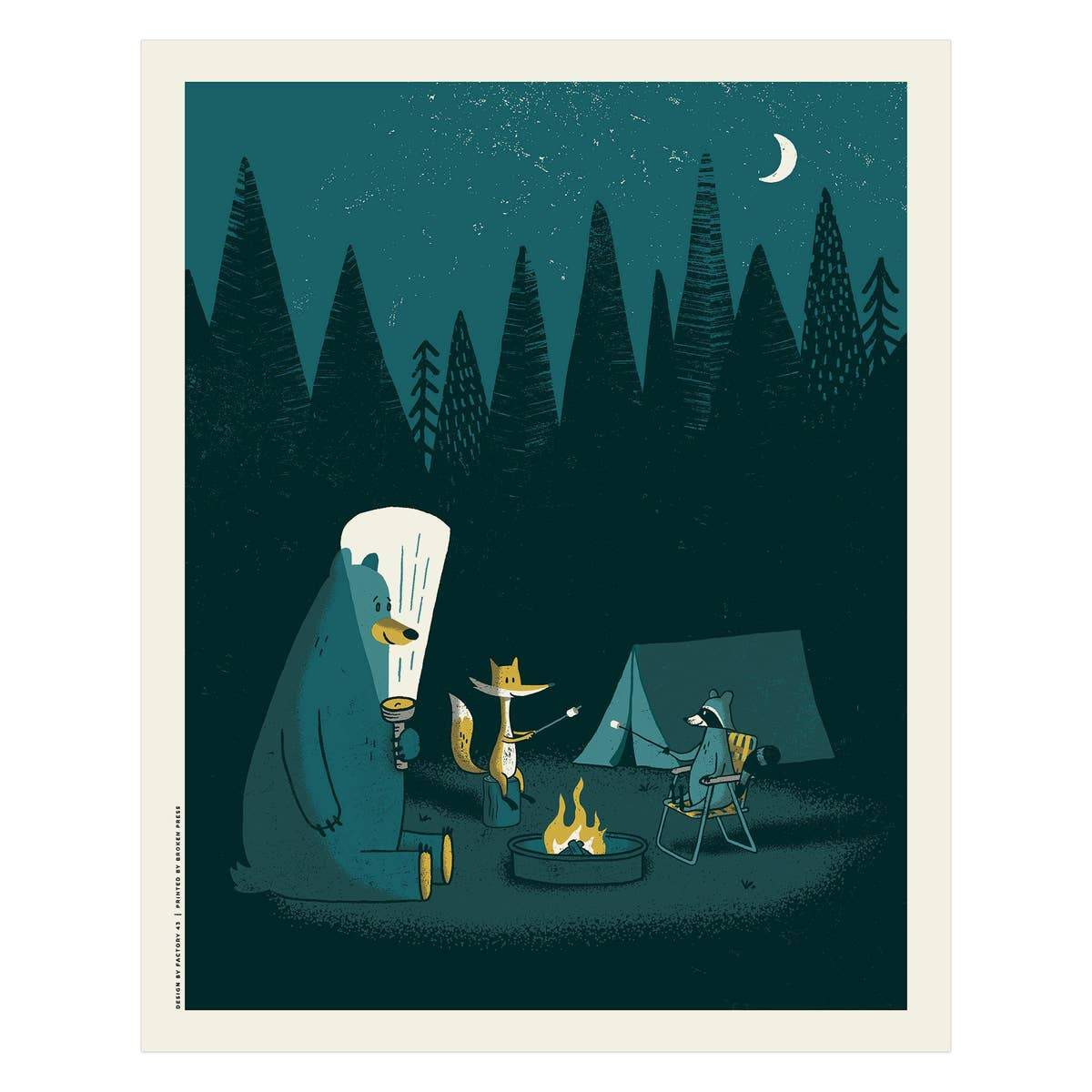 "Camping Out Art Print - 16"" x 20"""