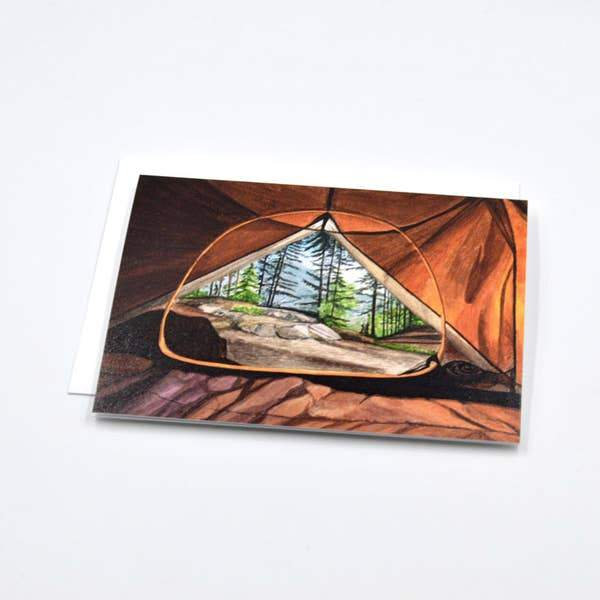 Camping Wanderlust Watercolor Notecard