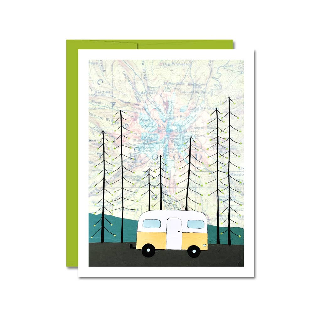 Topo Map Trailer Card