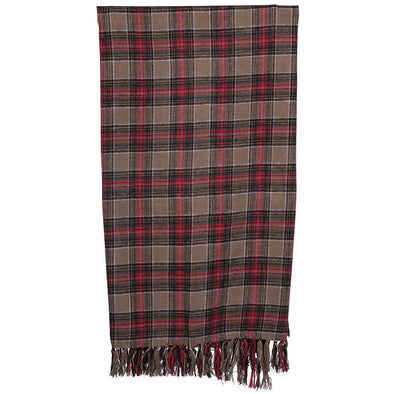 Holiday Throw - Gingerbread Tartan