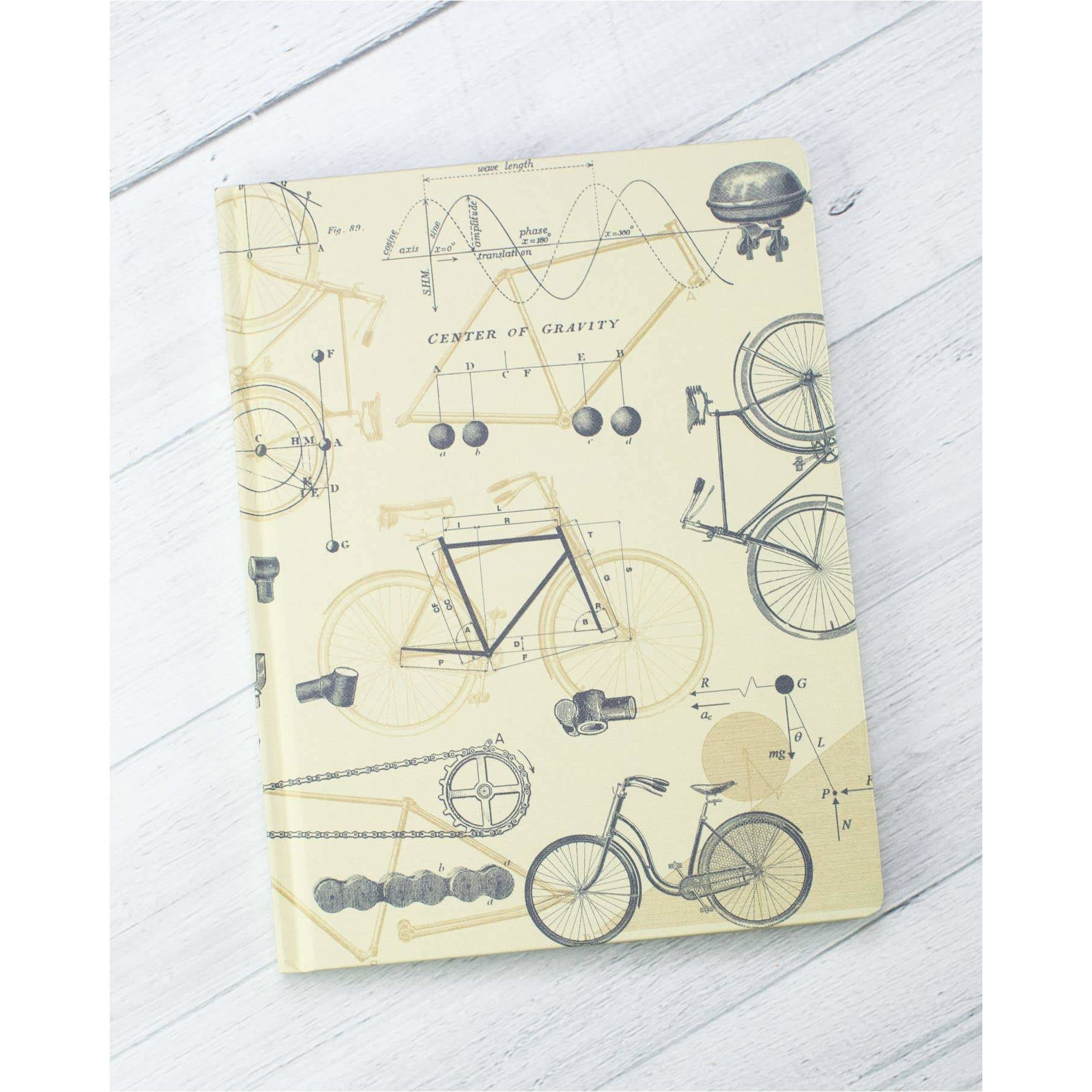 Bicycle Science Hardcover Notebook | Dot Grid