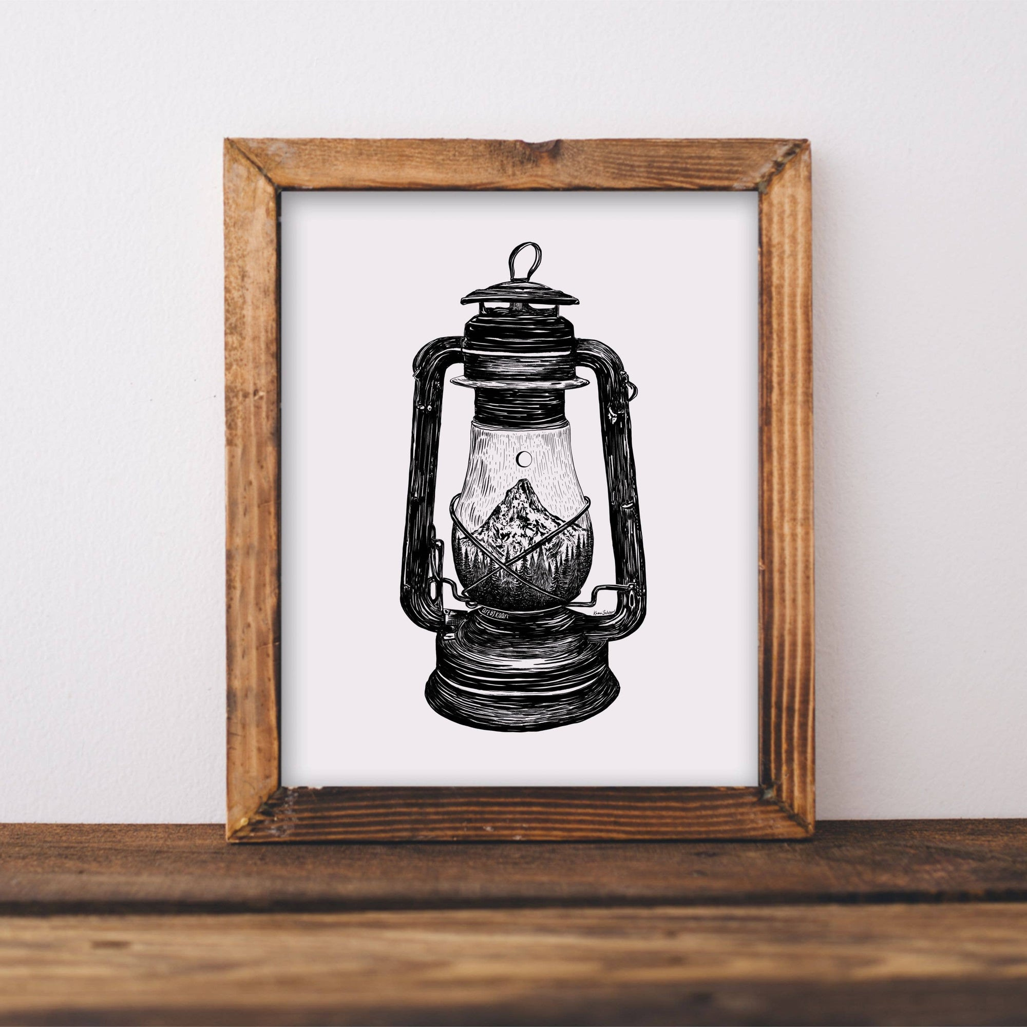 Mountain Lantern Art Print