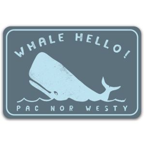 Whale Hello Sticker
