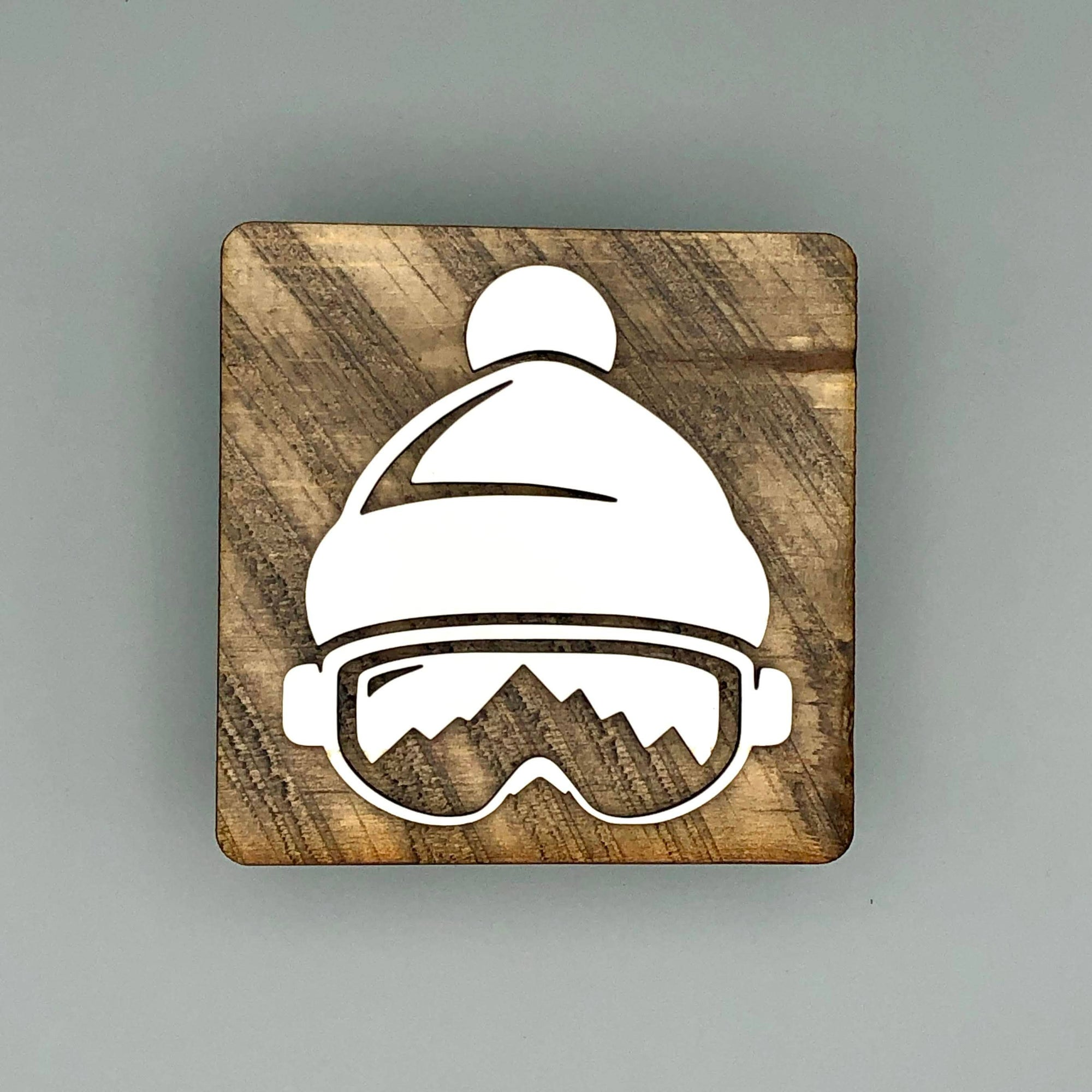 Ski Goggles/Beanie Shelf Decor | Reclaimed Wood