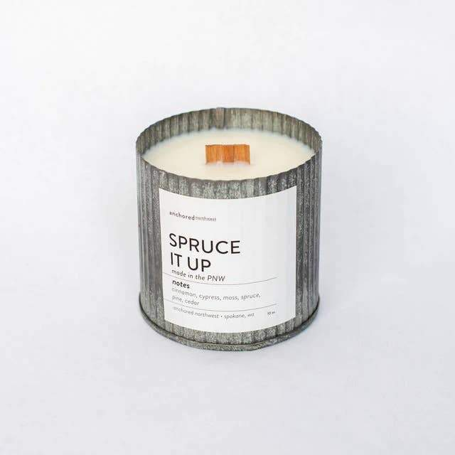 Spruce It Up Candle | Rustic Tin