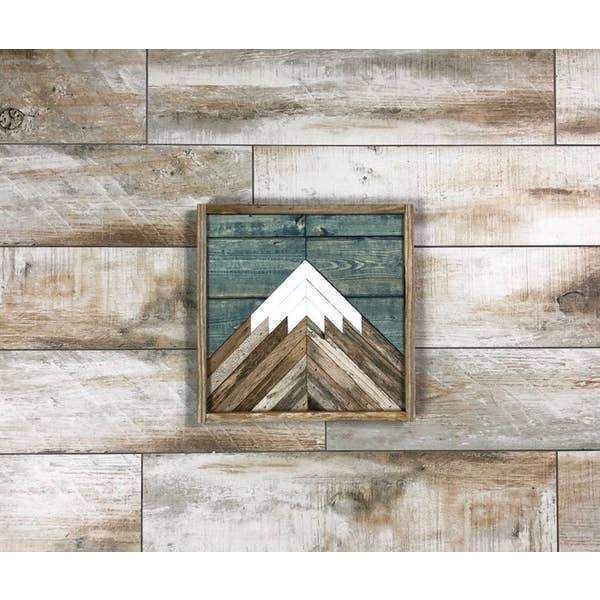 Mountain Blue Sky Wood Wall Art