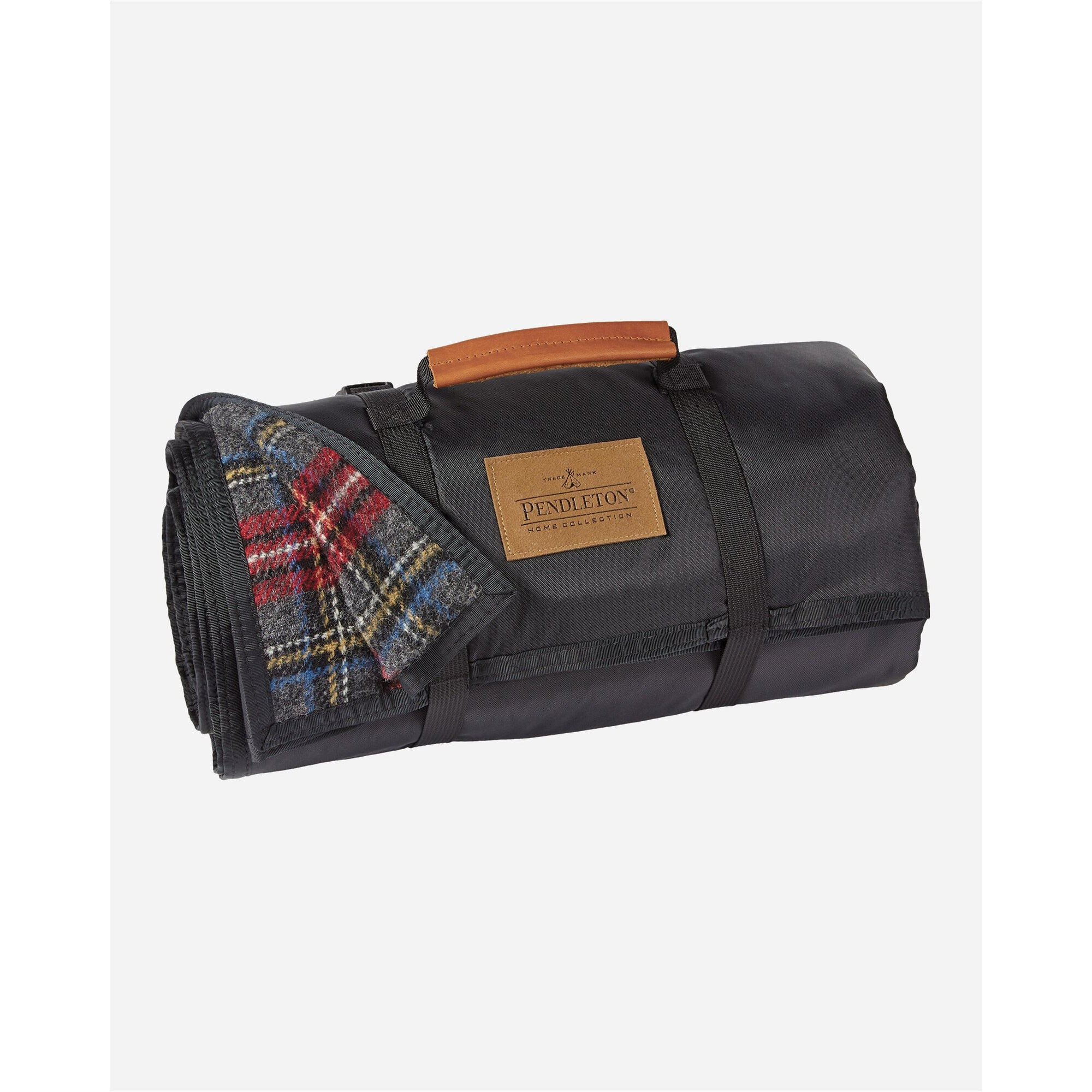 Charcoal Stewart Tartan Roll Up Blanket | Pendleton