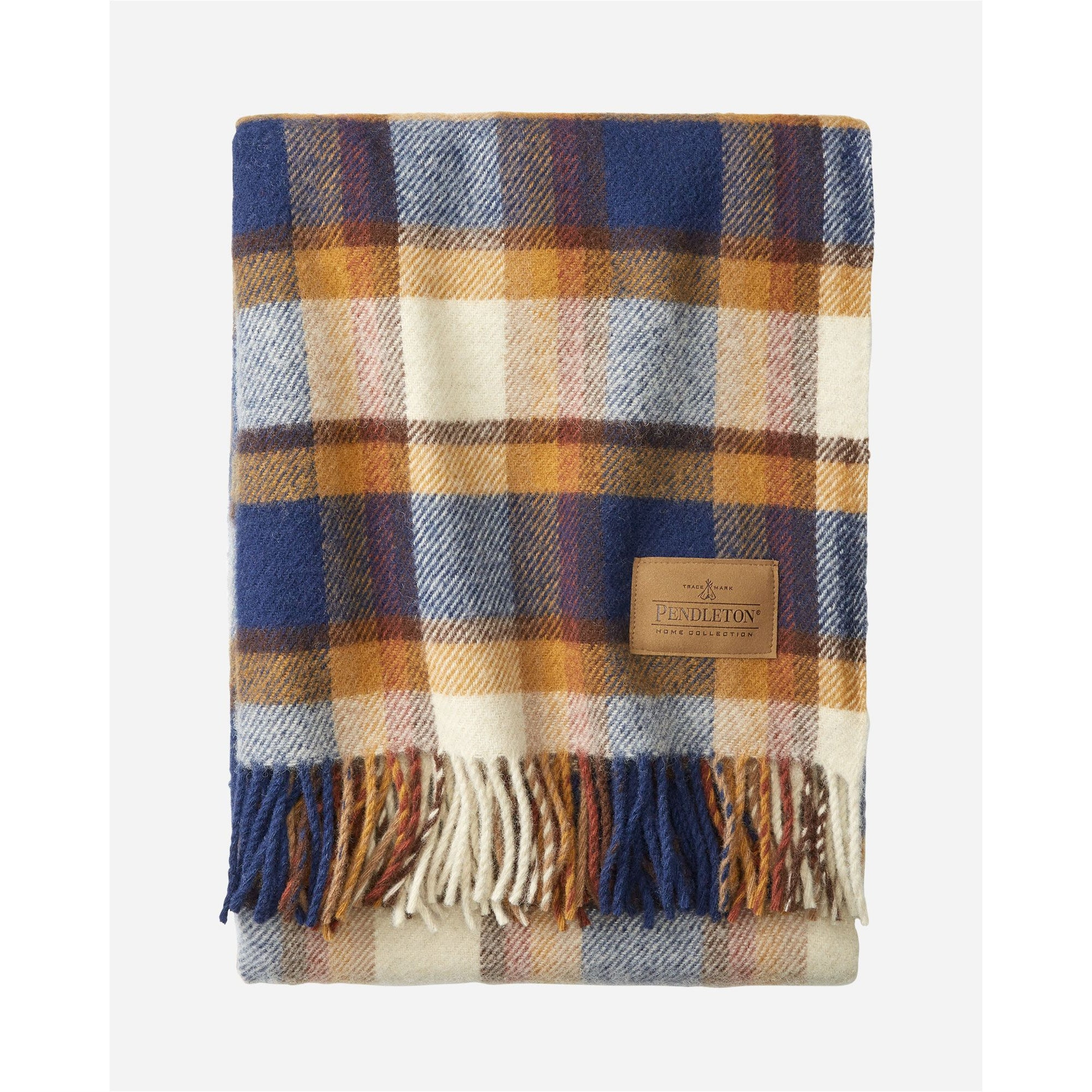Steens Mountain Plaid Throw with Leather Carrier | Pendleton