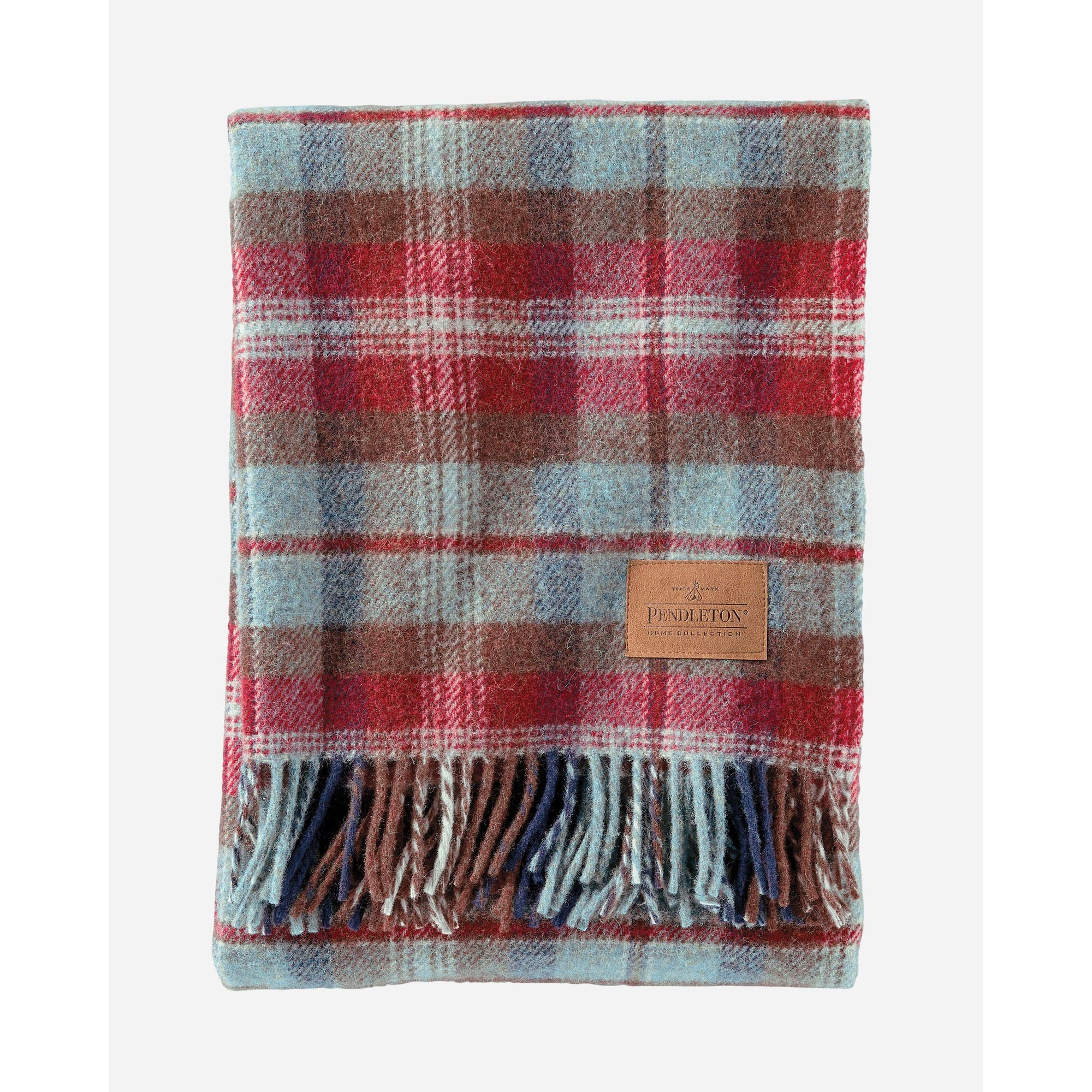Ruby Beach Plaid Throw with Leather Carrier | Pendleton
