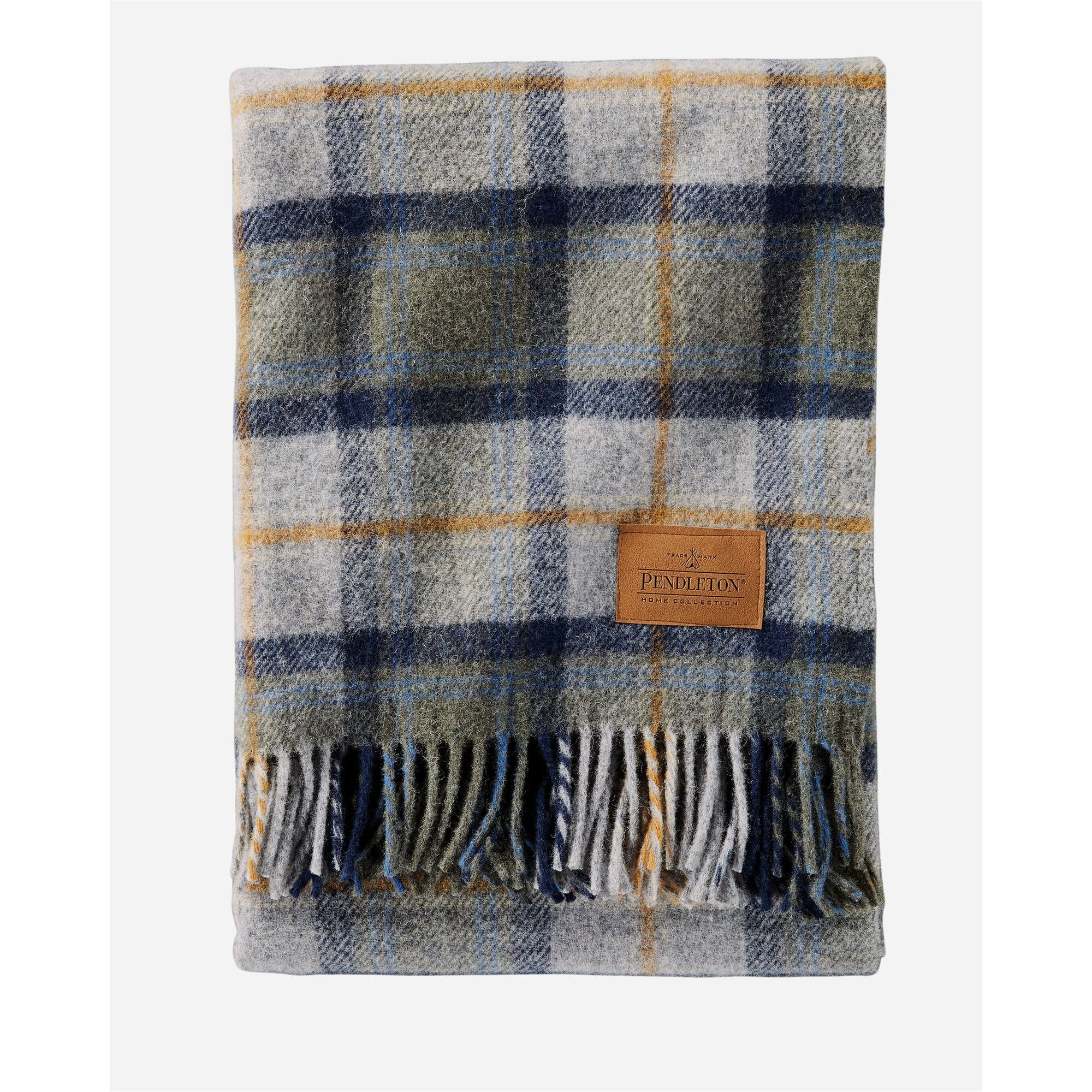 Mosier Plaid Throw with Leather Carrier | Pendleton