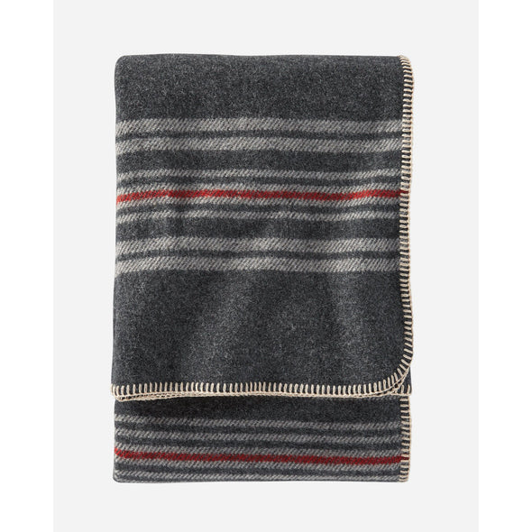 Irving Charcoal Eco-Wise Wool Stripe Throw | Pendleton