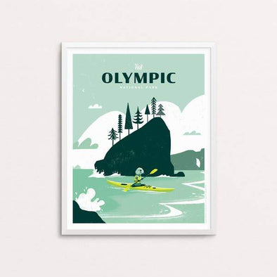 "Olympic National Park Screen Print - 16"" x 20"""