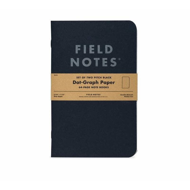Pitch Black Notebook 2-Pack | Field Notes