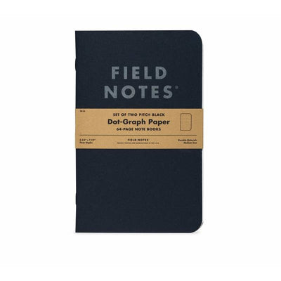 Field Notes: Pitch Black Notebook 2-Pack