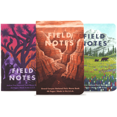 Field Notes: National Parks Memo Book Series B 3-Pack