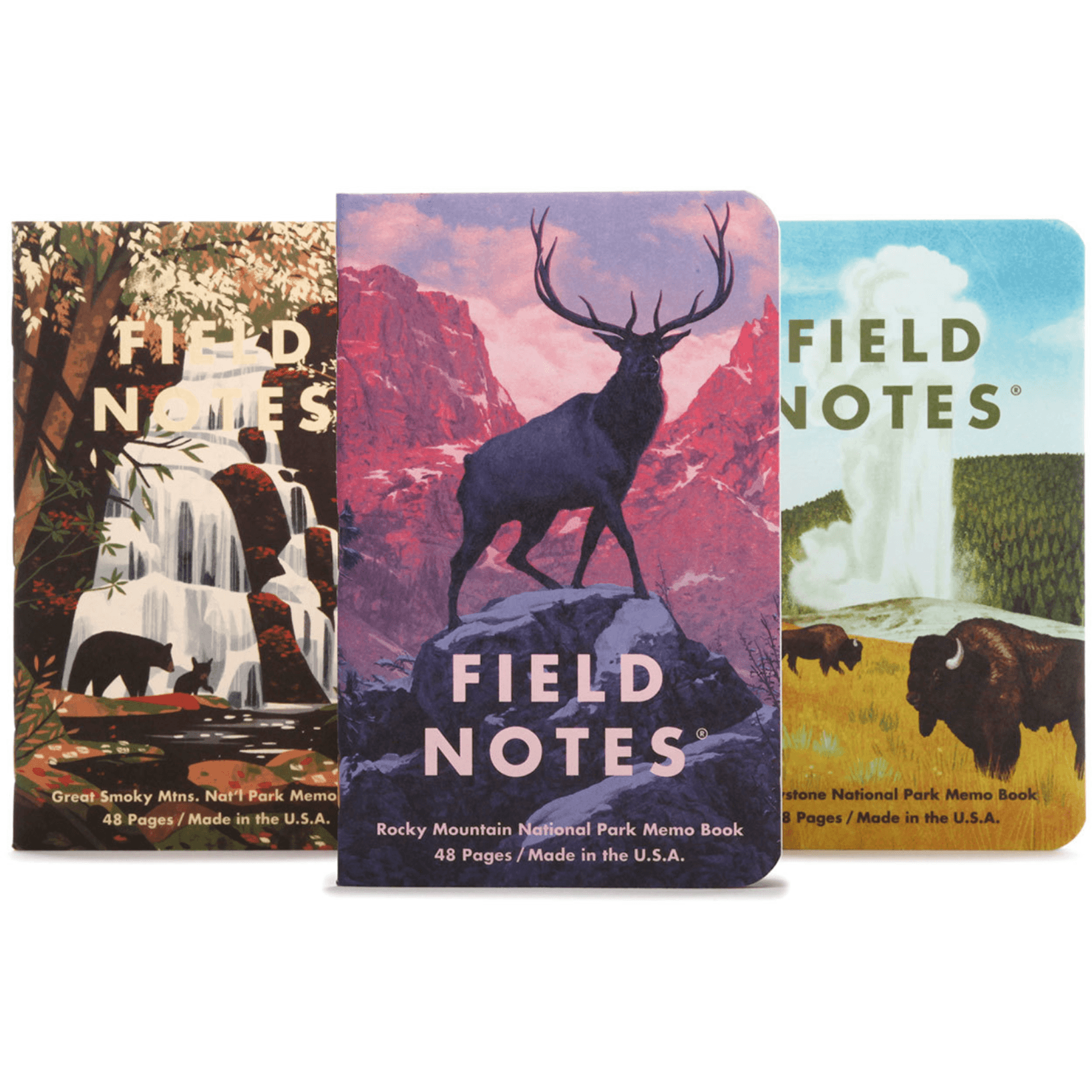 National Parks C 3-Pack Memo Book | Field Notes