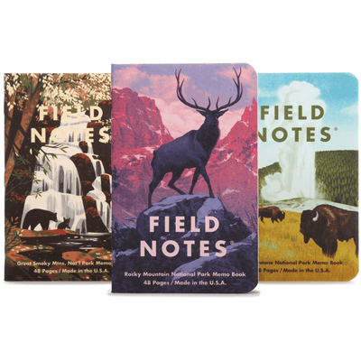 Field Notes: National Parks Memo Book Series C 3-Pack