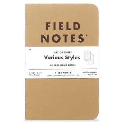 Original Kraft Cover 3-Pack Memo Books | Field Notes
