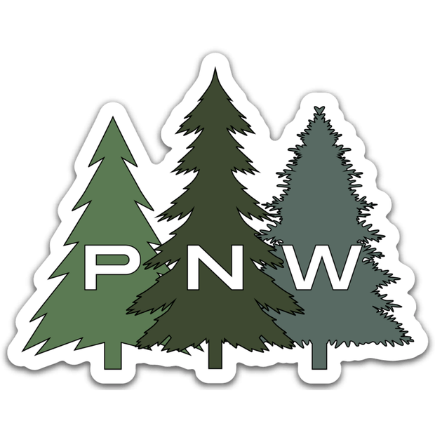 PNW Trees Sticker