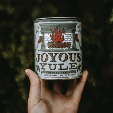 Joyous Yule Holiday Candle