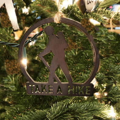 Take a Hike Ornament | Recycled Steel