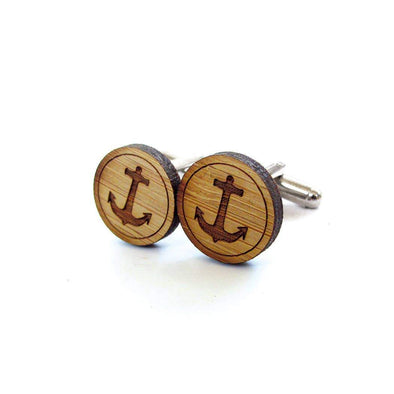 Anchor Bamboo Cufflinks