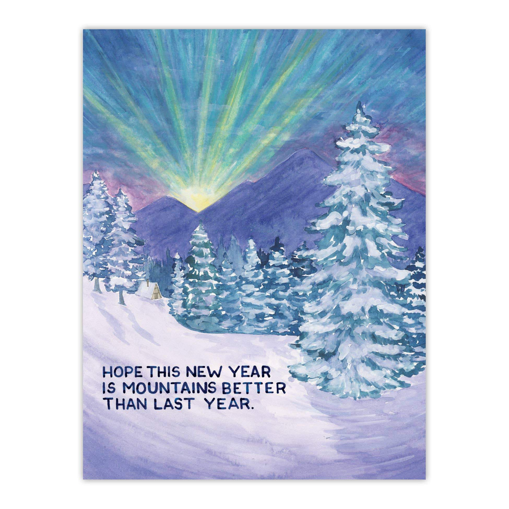 New Year Card - Mountains Better