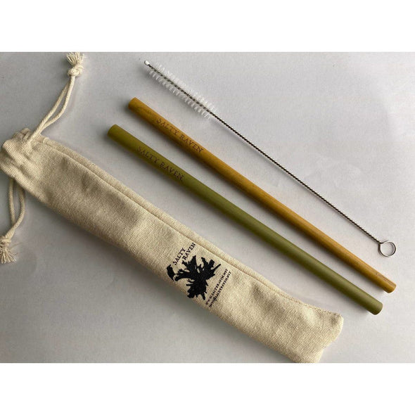 Biodegradable Reusable Bamboo Straw Set