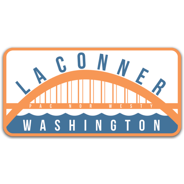 La Conner Rainbow Bridge Sticker