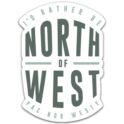 North of West Sticker
