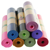 6mm TPE Non-Slip Yoga Mat with Carrying Bag + Strap