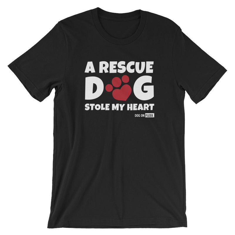 A Rescue Dog Stole My Heart: Short-Sleeve T-Shirt