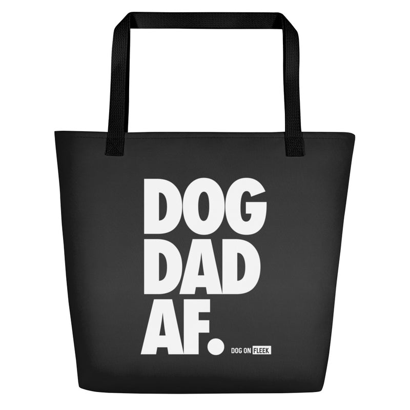 Dog Dad AF (CARBON): Tote