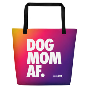 Dog Mom AF (CARRIBEAN): Tote